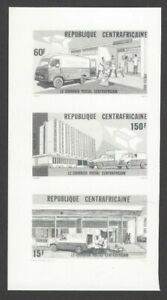 Central Africa Republic #55-57 1985 Postal Service composite photographic proof