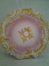 Shabby Cottage Chic Ceiling Medallion Pink White Gold - Beautiful w/ Chandeliers