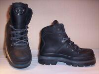 Scarpe alte polacchini scarponcini Fulgenzi bimbo bambino casual pelle neri n 31
