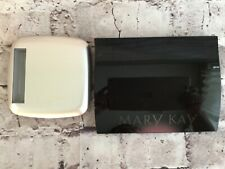 2 Mary Kay Mirror Compacts Unfilled Magnetic Black/Silver MK Signature Palettes