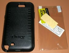 OtterBox Commuter case Samsung Galaxy Note II, Black + PET screen protester NEW