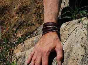 Mens or Womens  Blue Knight  Custom Leather Sterling Silver Cuff Wrap Bracelet