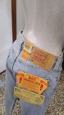 LEVIS JEANS LEVI'S 501 uomo donna blu jeans chiaro vintage style taglia W 32 L36