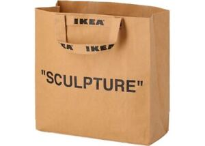 "IKEA x Virgil Abloh MARKERAD ""SCULPTURE"" Brown Bag Tote Medium Large Off White"