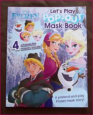 DISNEY FROZEN POP-OUT MASK Story BOOK / Imagination  4 Character Masks ELSA ANNA