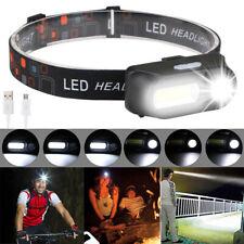 LED Stirnlampe Scheinwerfer Kopflampe USB Wiederaufladbar Wasserdicht DHL DE