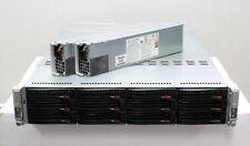 Supermicro 2U 12 Bay CSE-827 Dual Node 2x X8DTT-HF+, 4x E5620, 96GB (12x8GB) RAM