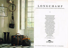 PUBLICITE ADVERTISING 064  1985  LONGCHAMP  bagages valises  ( 2 pages)