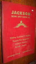 c1962 JACKSON WELDING SUPPLY CATALOF ROCHESTER NY BOOK