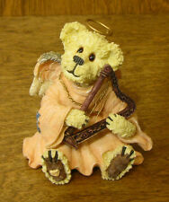 Boyds Bearstone #228347 MURIEL ANGELMUSE...LOVE'S SWEET MELODY, Harp Music 2.5""