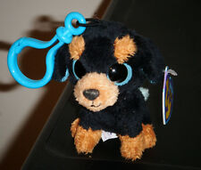 Ty Beanie Boos Key Clip ~ TUFFY the Rottweiler Dog ~ MINT with MINT TAGS