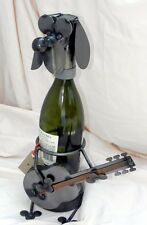 Made-in-the-USA Electric Guitar Dog Wine Caddy Made Entirely of Recycled Metals