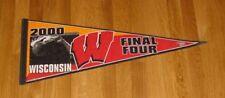 2000 Wisconsin Badgers Final Four pennant Dick Bennett Mike Kelly NCAA basketbal