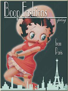 Nostalgic Art Betty Boop Pin Up Fashions From Paris Paris Fashion Magnet