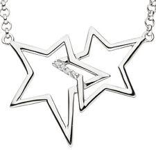 Collier Halskette Sterne 925 Silber mit Zirkonia 45 cm Kette Silberkette Damen