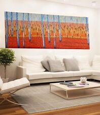huge Aboriginal painting art By Jane Crawford Coa  Signed Canvas Australia