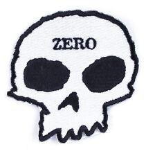"ZERO Skateboarding 3.5"" Skull Die Cut Adhesive Iron On Stitch On Patch NEW"