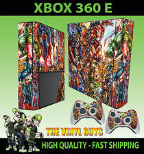 XBOX 360 E MARVEL DC ACTION HERO SUPERHERO SKIN SUPERSLIM & 2 PAD SKIN