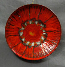 Fat Lava Pottery Ceramic Wall Plate Mint Condition 8.75 inches Unsigned