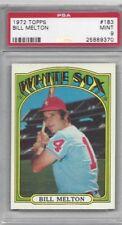 1972 Topps baseball card #183 Bill Melton, Chicago White Sox, graded PSA 9 MINT