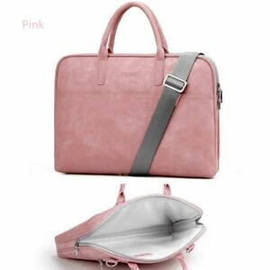 Leather Laptop Bags Sleeve Case With Handle For Women Macbook 14 15 15.6 17.3