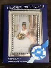 Elegant Metal Frame Album In One Bride Pictures BNIB Wedding Grandchildren #D11