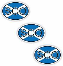 Schottland 3x Aufkleber Autoaufkleber Motorrad Nationalitätenkennzeichen Helm