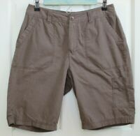 St Johns Bay Womens Size 8 (29) Brown Weathered Casual Shorts 123-19649