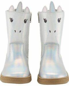Carter's Toddler Girls Eliska Unicorn Boot Silver Cushioned Inside NEW 6 10 11