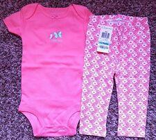 Girl's Size 9 M 6-9 Month NWOT Carter's Butterfly Top + NWT Pink Floral Leggings