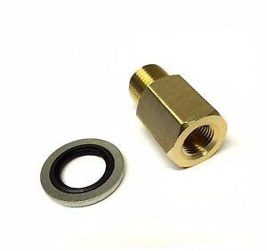 Water Temperature,Temp,Oil Pressure Gauge Adapter M12 1.5 to 1/8 BSP (064/B)