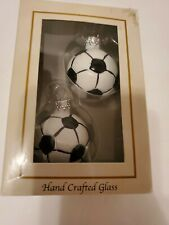 Soccer Ornaments Christmas Hand Crafted Glass Designers Studio