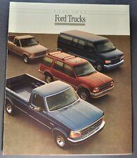 1992 Ford Truck Brochure F-150 Pickup Bronco Ranger Econoline Van Explorer 92