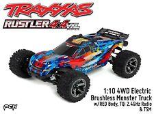 TRAXXAS 1:10 RUSTLER 4X4 VXL Brushless 4WD Stadium Truck RTR (RED) TRA670764