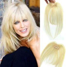 3D Clip in Hair Bang Human Hair Extensions Hair Topper Hair Hairpiece 613# Blond