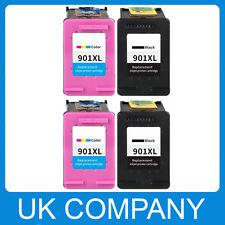 4 Ink Cartridge Unbrand Fits for hp 901 XL Black Colour Set Officejet J4580
