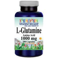 L-Glutamine Free Form Amino Acid 1000 mg 200 Caps by Vitamins Because