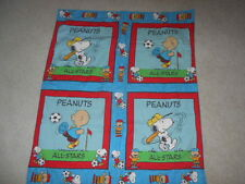 """Peanuts  Charlie Brown/Snoopy All-Stars Quilt 37 1/2 Inches X 32""""  Reversible"""