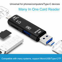 5 in 1 USB 3.0 Type C/ USB / Micro USB SD TF Memory Card Reader OTG Adapter