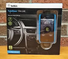 Belkin TuneBase FM LIVE Transmitter For Apple iPhone and IPod F8Z618