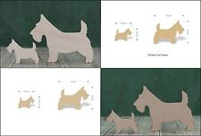 Scottie dog wooden blanks. Mdf or birch ply wood Scottish craft shape 8cm or 4cm