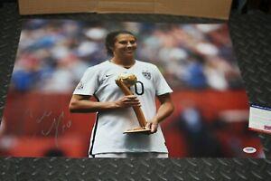 CARLI LLOYD SIGNED AUTOGRAPHED USA World Cup 16x20 Photo PSA/DNA COA
