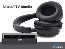 Miccus TV Bundle1 - Includes both Low Latency Bluetooth Transmitter & Headphones
