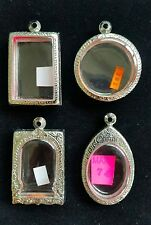 THAI AMULET STYLE BUDDHA STAINLESS STEEL CASES SET 4 HOLY GRADE A STRONG