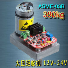 1PC 12-24V 380kg.cm ASME-03B High Torque Alloy Servo for Large Robot Arm