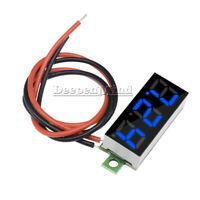 "Blue 0.28"" 2 Wire Mini DC Digital Panel Voltmeter Panel Mount LED Voltage"