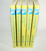 Lot Of 5 NANCY DREW Hardcover Glossy Yellow HC Books 11-15 Carolyn Keene 2004