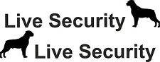2 x Live Security Rottweiler Hund Aufkleber 21x4 cm Auto Car Tuning Safety (24)