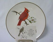 """Avon Cardinal North American Songbird 10-1/4"""" Plate by Don Eckelberry"""