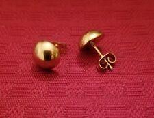 Gold Stainless Steel Half Ball Stud Earrings for Women/ Men - size 10mm
